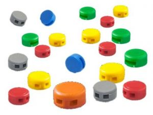 Kunststoffplomben (10mm), 250 Stück, versch. Farben