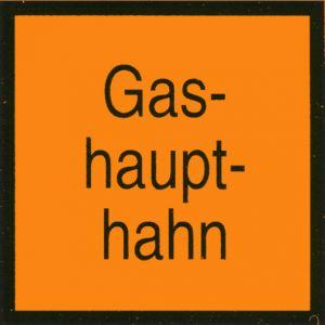Schild - Gashaupthahn