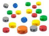 Kunststoffplomben (8mm), 250 Stück, versch. Farben