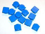 Siegelplomben 1000 Stck. einseitig, eckig (8mm, Kunststoff)
