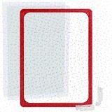 Kunststoffrahmen DIN A4 rot