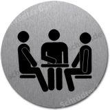 Edelstahlschild mit Symbol: Konferenzraum