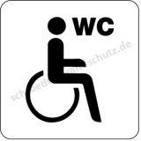 Schild - Behinderten-WC