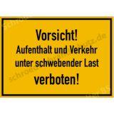Baustellenschild - Vorsicht! Aufenthalt und Verkehr...