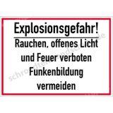 Schild - Explosionsgefahr! Rauchen...