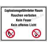 Schild - Explosionsgefährdeter Raum ...