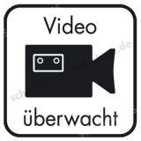 Hinweisschild - Video überwacht