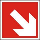 Brandschutzzeichen - Richtungsangabe aufwärts oder abwärts