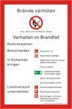 Schild - Brandschutzordnung DIN 14096-1 (Teil A)