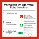 Schild - Verhalten im Alarmfall