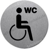 Edelstahlschild- WC Behinderte