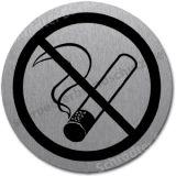 Edlestahlschild- Rauchen verboten