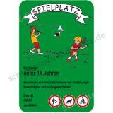 Schild - Spielplatz für Kinder unter 14 Jahren