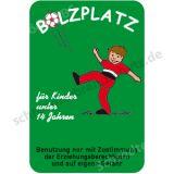 Schild - Bolzplatz für Kinder unter 14 Jahren