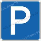 Symbolschild - Parkplatz