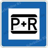 Symbolschild - Parken und Reisen