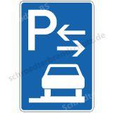 Symbolschild - Parken ganz auf Gehwegen (Mitte)