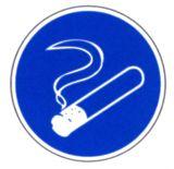 Gebotsschild - Rauchen gestattet