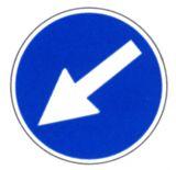 Gebotsschild - Richtungshinweis