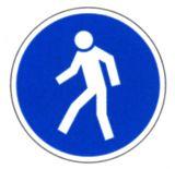 Gebotsschild - Für Fußgänger