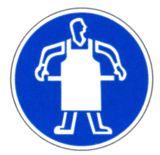 Gebotsschild - Schutzschürze tragen