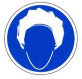 Gebotsschild - Kopfhaube benutzen