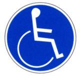 Gebotsschild - Für Rollstuhlfahrer