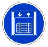 Gebotsschild - Lastenaufzug