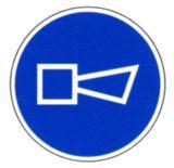 Gebotsschild - Hupen (Signal geben)
