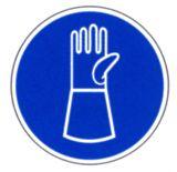 Gebotsschild- Handschuhe mit Pulsschutz