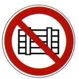 Verbotsschild - Nichts abstellen oder lagern