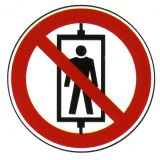 Verbotsschild - Personenbeförderung (Seilfahrt) verboten