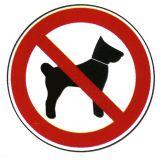 Verbotsschild - Mitführen von Tieren verboten