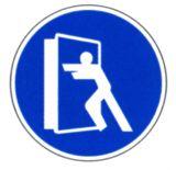 Gebotsschild - Tür stets schließen