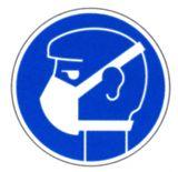Gebotsschild - Leichten Atemschutz benutzen