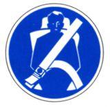 Gebotsschild - Sicherheitsgurt anlegen