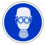 Gebotsschild - Atem - und Kopfschutz benutzen