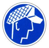 Gebotsschild - Schutzhaube benutzen